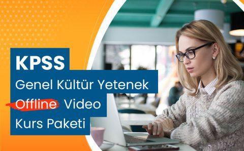 KPSS Genel Kültür Yetenek Offline Video Kurs Paketi